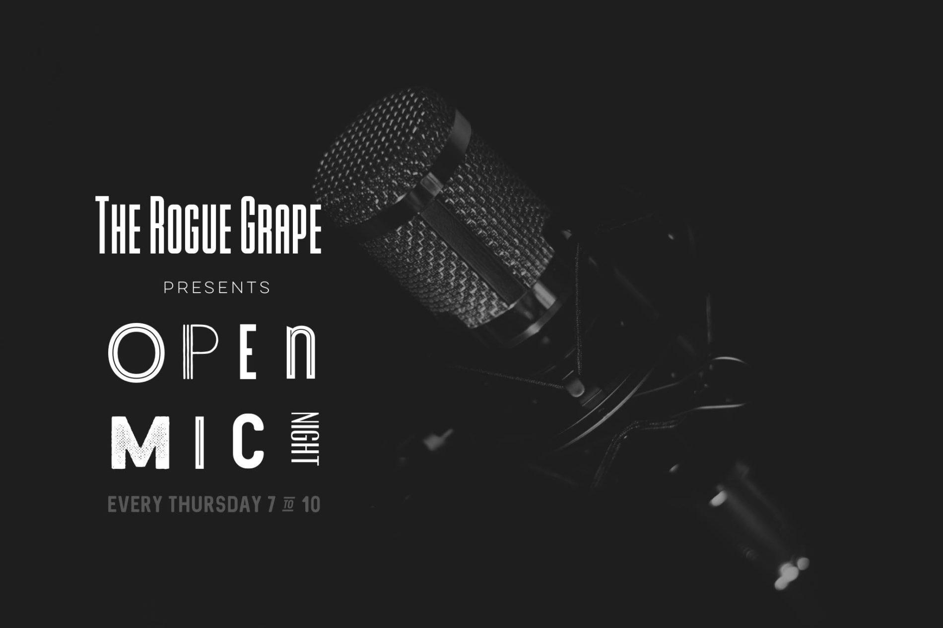 BD8EE811 EA1E 4966 8D73 268368A59F6D - Open Mic Night at The Rogue Grape