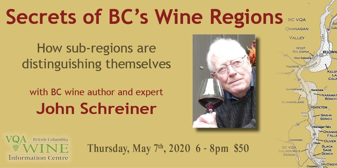 John Event Image - Secrets of BC's Wine Regions