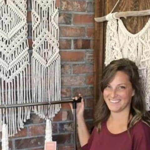 Macrame Square - Macrame & Wine with The Makery