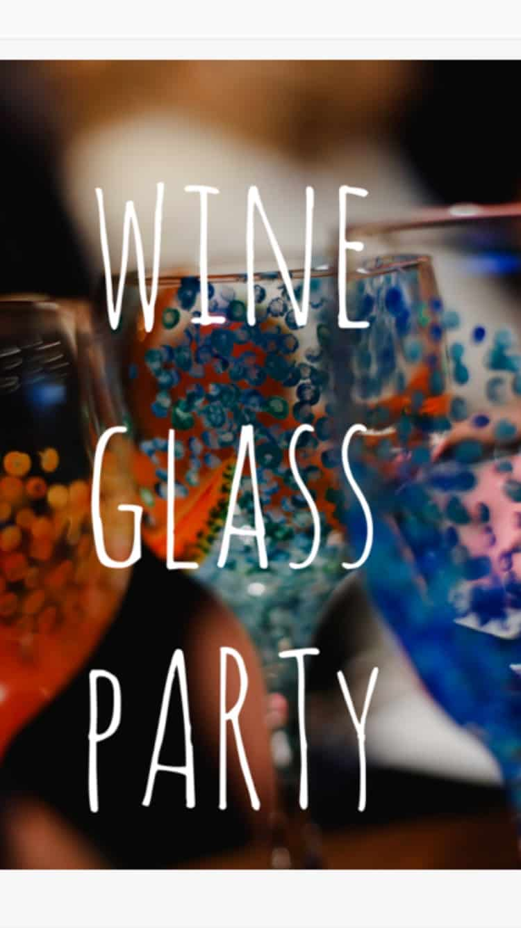 Zealous wine glass party - Wineglass Painting with Zealous Art