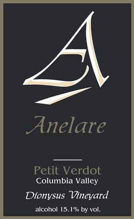 anelare winery dionysus vineyard petit verdot nv label - Anelare Winery 2015 Dionysus Vineyard Petit Verdot, Columbia Valley, $55