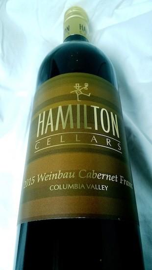 hamilton cellars weinbau cabernet franc 2015 bottle 1 - Hamilton Cellars 2015 Weinbau Cabernet Franc, Columbia Valley $35