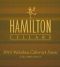 hamilton cellars weinbau cabernet franc 2015 label 120x134 - Hamilton Cellars 2015 Weinbau Cabernet Franc, Columbia Valley $35