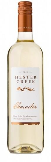 hester creek estate winery character 2018 bottle - Hester Creek Estate Winery 2018 Character Pinot Gris, Gewürztraminer White Wine, Okanagan Valley, $16