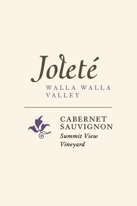 jolete wines summit view vineyard cabernet sauvignon nv label - Joleté Wines 2017 Summit View Vineyard Cabernet Sauvignon, Walla Walla Valley, $35