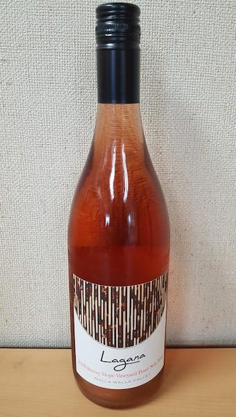 lagana cellars breezy slope vineyard pinot noir rose 2018 bottle - Lagana Cellars 2018 Breezy Slope Vineyard Pinot Noir Rosé, Walla Walla Valley $20