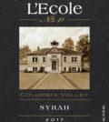 lecole no 41 syrah columbia valley 2017 label 120x134 - L'Ecole No. 41 2017 Syrah, Columbia Valley, $25