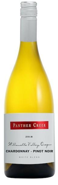 panther creek cellars chardonnay pinot noir white blend 2018 bottle - Panther Creek Cellars 2018 Chardonnay-Pinot Noir White Blend, Willamette Valley, $30