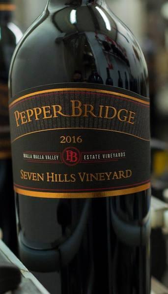 pepper bridge winery seven hills vineyard 2016 bottle - Pepper Bridge Winery 2016 Seven Hills Vineyard Estate Red Wine, Walla Walla Valley $60