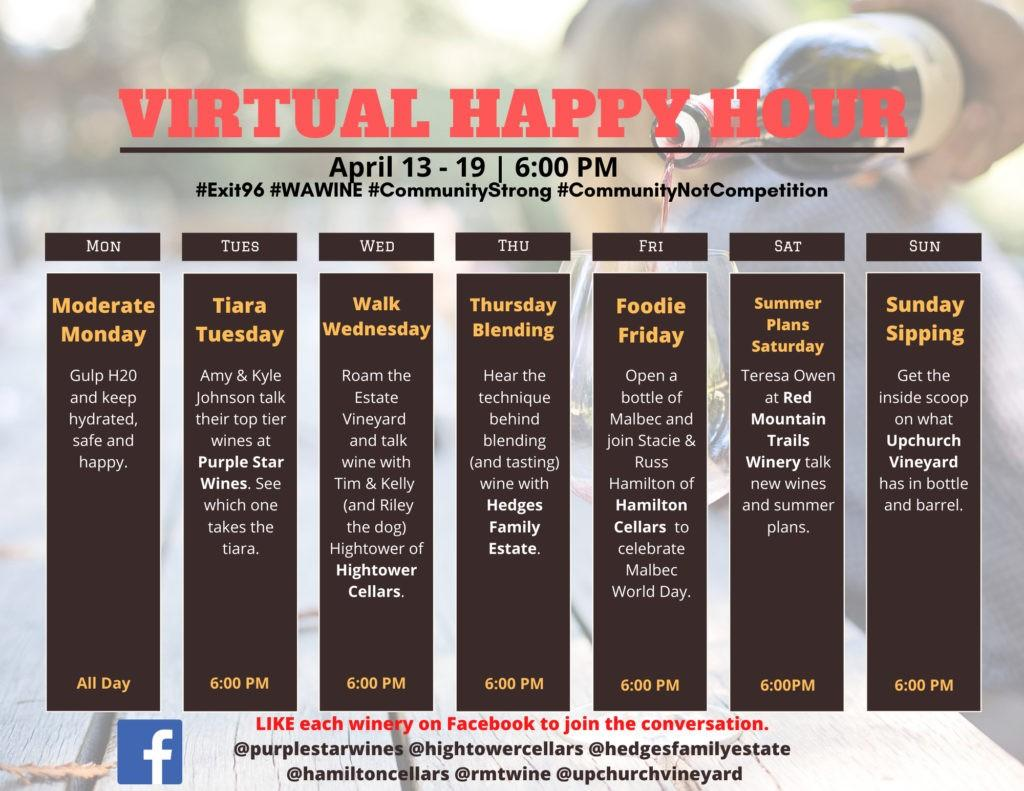 virtual happy hour week 4 1024x791 - North Bend Farmers Market with Convergence Zone Cellars