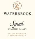 waterbrook winery syrah nv label 120x134 - Waterbrook Winery 2017 Syrah, Columbia Valley, $15