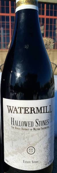 watermill winery hallowed stones estate syrah 2017 bottle fb - Watermill Winery 2017 Hallowed Stones Estate Syrah, The Rocks District of Milton-Freewater, $40