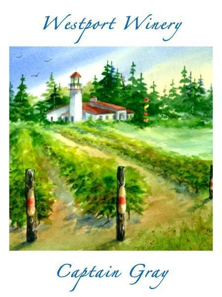 westport winery garden resort captain gray chardonnay nv label - Westport Winery Garden Resort 2018 Olsen Estate Vineyard Captain Gray Chardonnay, Yakima Valley, $32