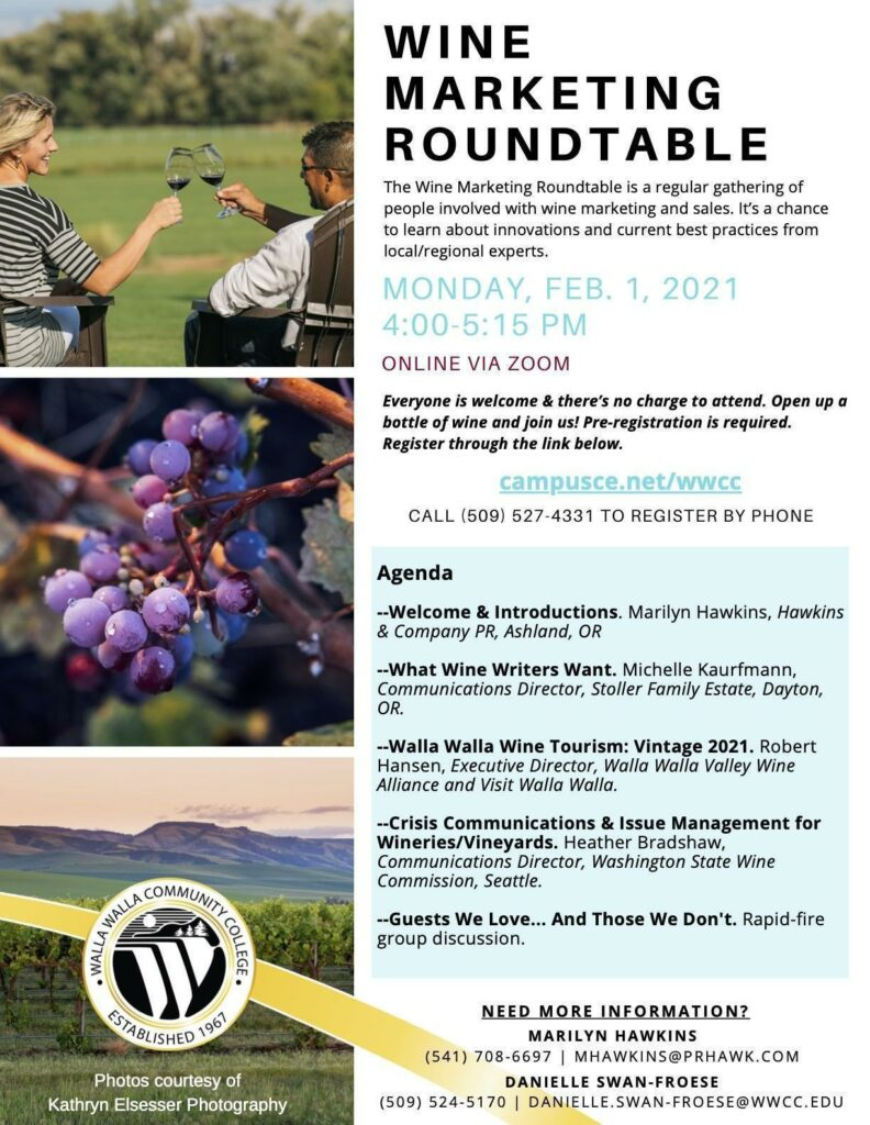 wine marketing roundtable agenda 02 01 2021 poster 792x1024 - Live music at Sigillo Cellars with Nathan and Roz Duo
