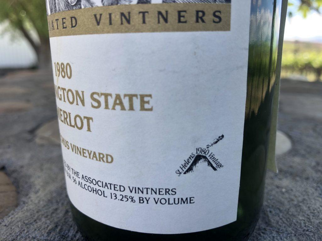 associated vintners bacchus vineyard merlot 1980 st helens 1980 vintage logo 1024x768 - Columbia Valley growers, winemaker look back on Mount St. Helens