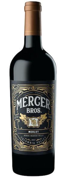 mercer bros merlot 2017 bottle - Mercer Bros. 2017 Merlot, Horse Heaven Hills $20