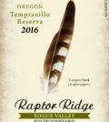 raptor ridge winery folin vineyard tempranill 2016 label 120x134 - Raptor Ridge Winery 2016 Folin Vineyard Tempranillo Reserva, Rogue Valley, $40