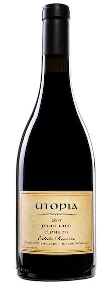 utopia wines the utopia vineyard clone 777 estate reserve pinot noir 2017 bottle copy - Utopia Wines 2017 The Utopia Vineyard Clone 777 Estate Reserve, Ribbon Ridge, $65