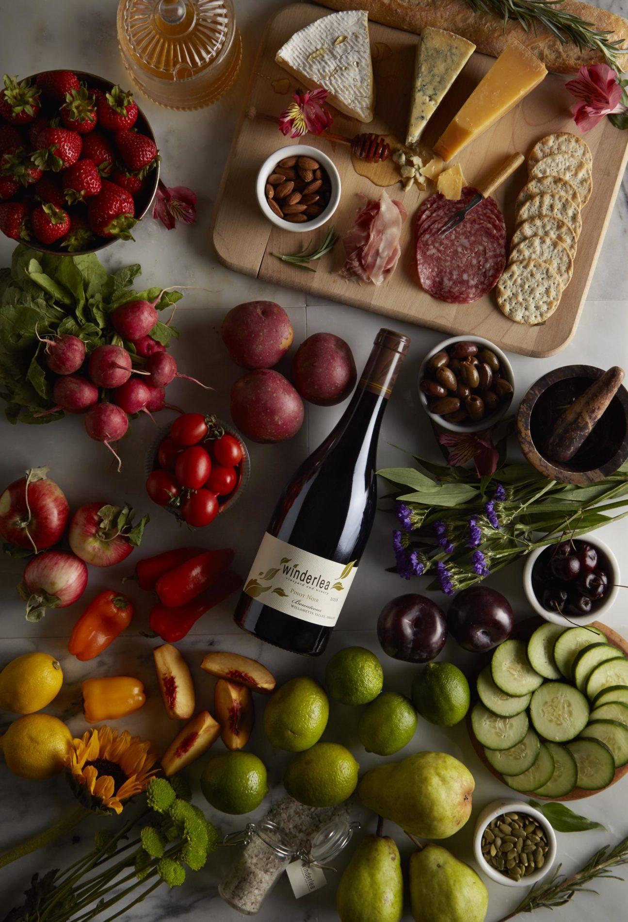 wine laydown 9 120071 scaled 1uXjT5.tmp  - Memorial Day Weekend New Release | 2017 Winderlea Maresh Vineyard Pinot noir