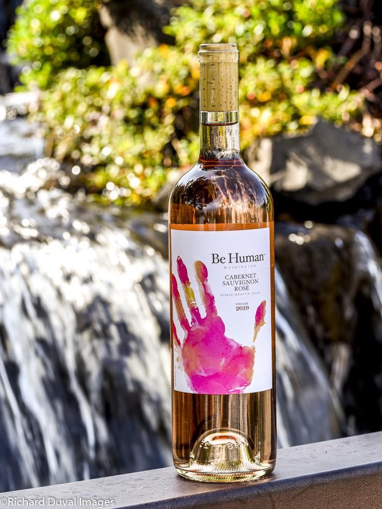 aquilini be human cabernet sauvignon rose 2019 bottle - Wild Goose Vineyards in British Columbia tops Cascadia wine judging again