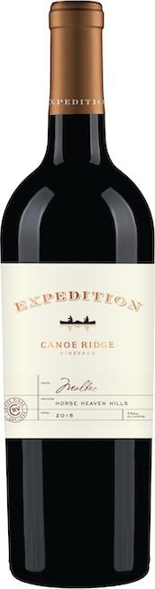 canoe ridge vineyard the expedition malbec nv bottle - Canoe Ridge Vineyard 2018 Expedition Malbec, Horse Heaven Hills, $17