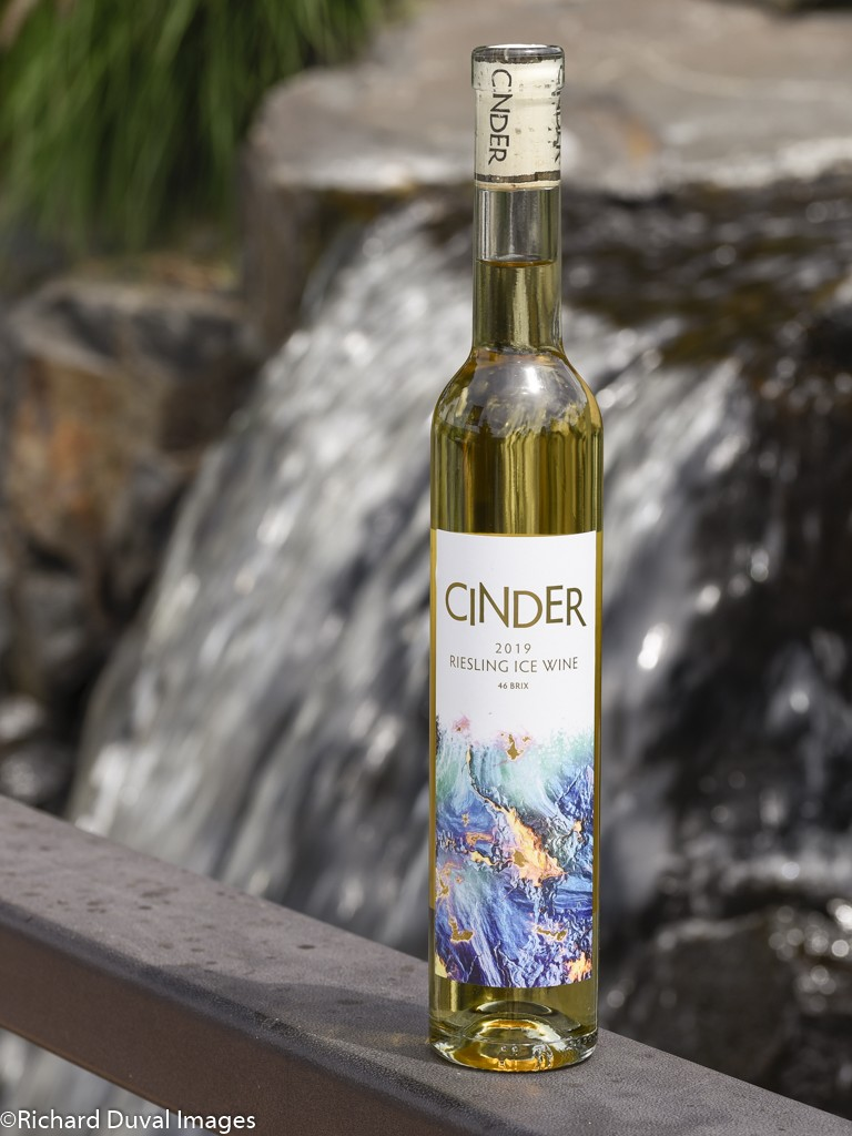 cinder wines 46 brix riesling ice wine 2019 bottle - Wild Goose Vineyards in British Columbia tops Cascadia wine judging again