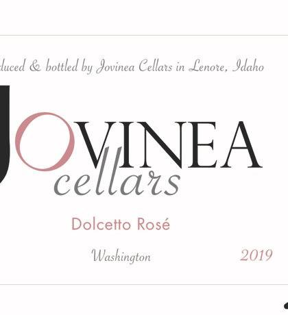 jovinea cellars dolcetto rose 2019 label 420x460 - Jovinea Cellars 2019 Dolcetto Rosé, Washington State, $20