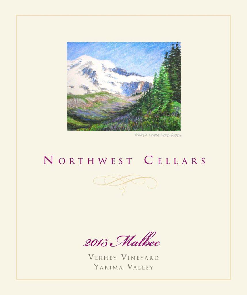 northwest cellars verhey vineyard malbec 2015 label 858x1024 - Northwest Cellars 2015 Verhey Vineyard Syrah, Yakima Valley, $32