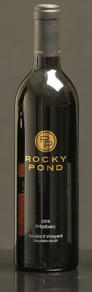 rocky pond winery double d vineyard malbec 2016 bottle 324x1024 - Rocky Pond Winery 2016 Double D Vineyard Malbec, Columbia Valley, $42