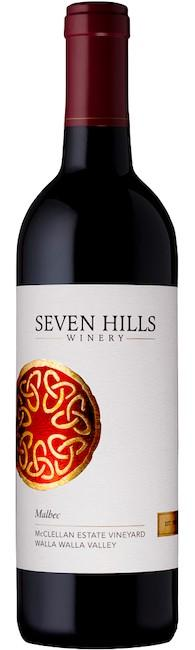 seven hills winery mcclellan estate vineyard malbec nv new bottle - Seven Hills Winery 2018 McClellan Estate Vineyard Malbec, Walla Walla Valley, $40
