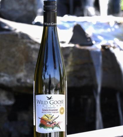 wild goose vineyards mystic river vineyard gewurztraminer 2019 bottle 420x470 - Wild Goose Vineyards in British Columbia tops Cascadia wine judging again