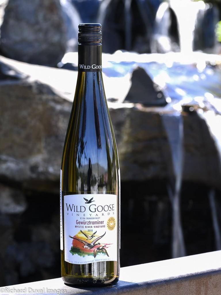 wild goose vineyards mystic river vineyard gewurztraminer 2019 bottle - Wild Goose Vineyards in British Columbia tops Cascadia wine judging again
