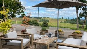 wine tasting outdoors willamette f68cEG.tmp  300x169 - Now Open: Knudsen Vineyards