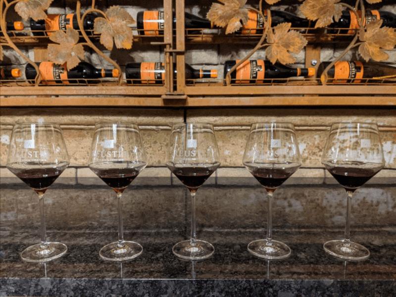 Vertical Tasting Pinot Noir - Vertical tasting of Pinot Noir at Reustle Prayer Rock Vineyards