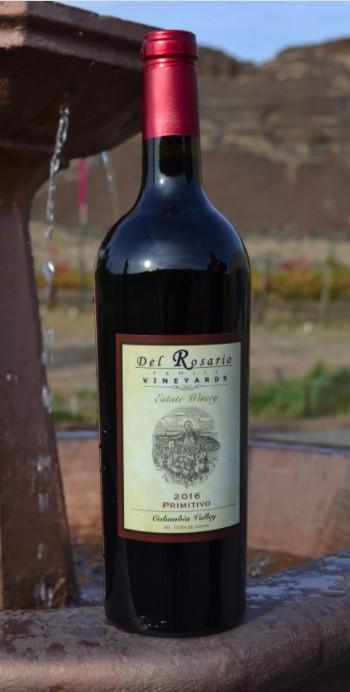 del rosario family vineyards estate winery primitivo 2016 bottle - Del Rosario Family Vineyards Estate Winery 2016 Primitivo, Columbia Valley, $36