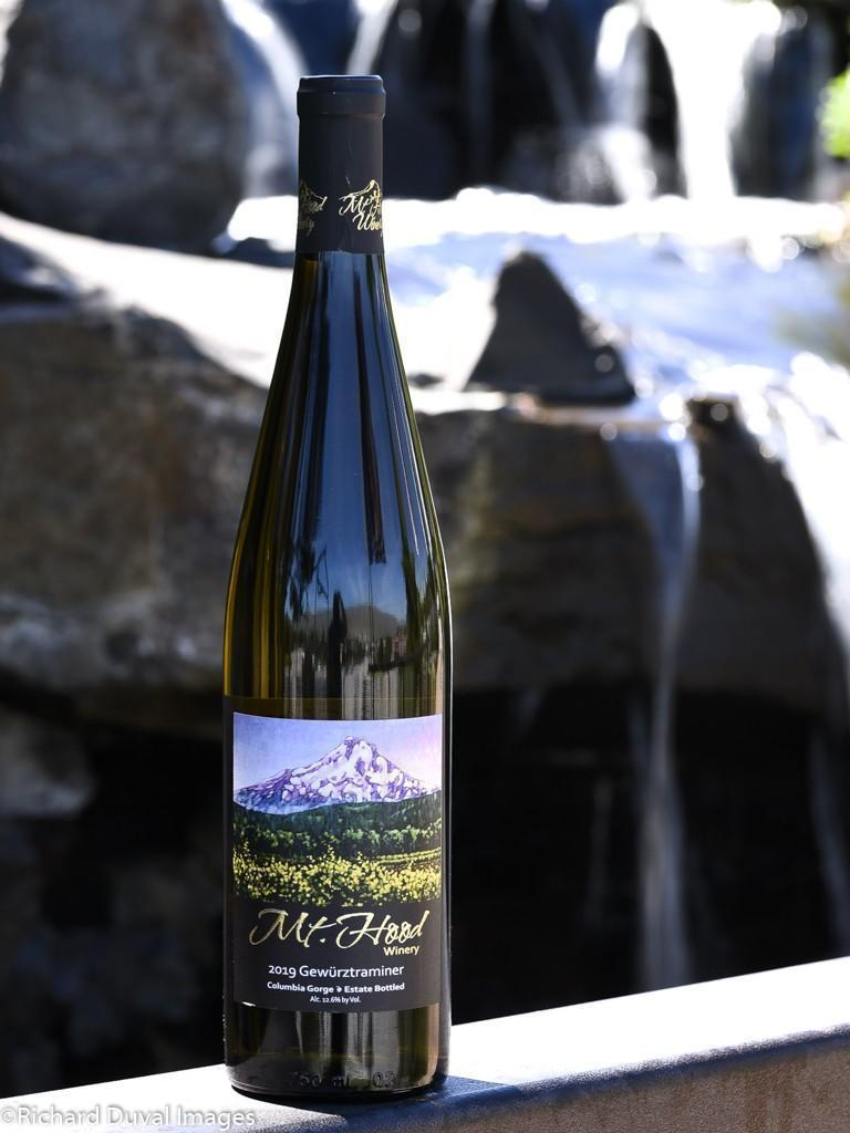 mt hood winery 2019 estate gewurztraminer cascadia gold 2020 richard duval images - Mt. Hood Winery 2019 Gewürztraminer, Columbia Gorge, $24