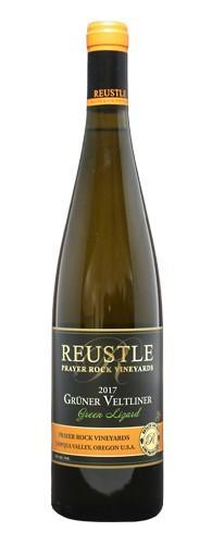 reustle prayer rock vineyards green lizard gruner veltliner 2017 bottle - Reustle - Prayer Rock Vineyards 2017 Estate Green Lizard Grüner Veltliner, Umpqua Valley, $32