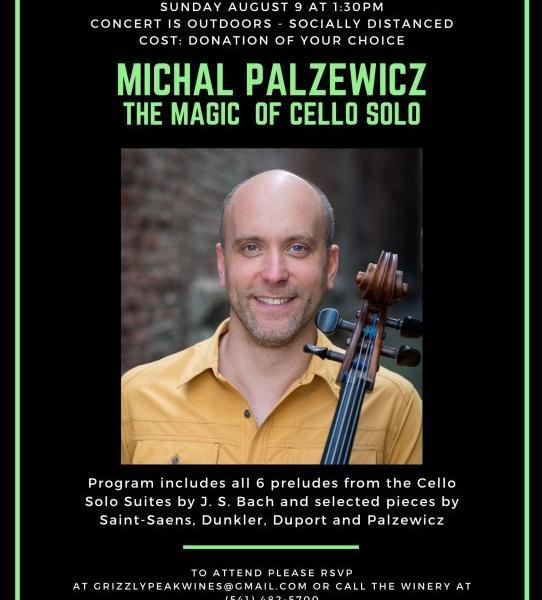 3372 photo 243312 - Grizzly Peak Winery presents Michal Palzewicz: The Magic of Cello Solo