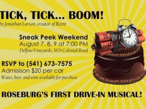 Tick 300x225 - 'Tick, Tick, BOOM!' Sneak Peek Weekend at Delfino Vineyards