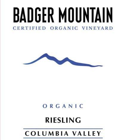 badger mountain certified organic vineyard organic riesling nv label 420x470 - Badger Mountain Certified Organic Vineyard 2019 Organic Riesling, Columbia Valley, $16