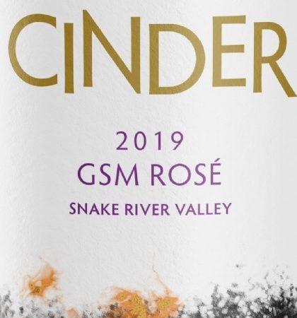 cinder wines gsm rose 2019 label 420x450 - Cinder Wines 2019 GSM Rosé, Snake River Valley, $23