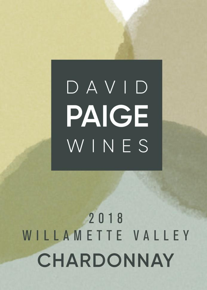david paige wines chardonnay 2018 label for bottle - David Paige Wines 2018 Chardonnay, Willamette Valley, $30