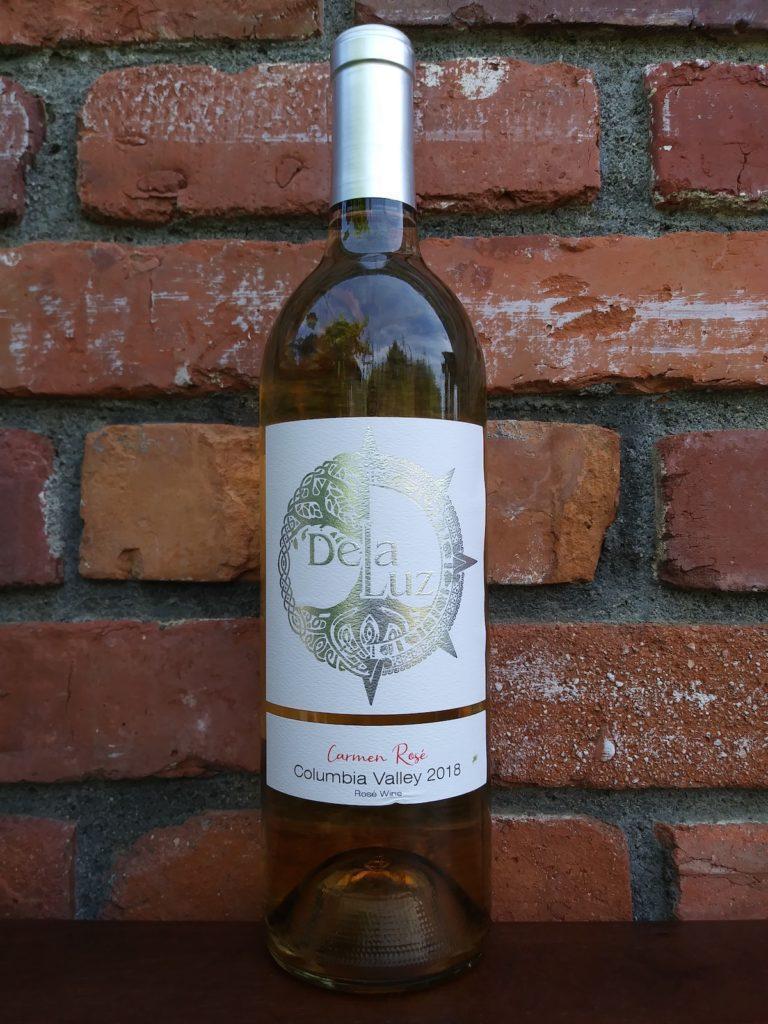 de la luz wines carmen rose rose wine 2018 bottle 768x1024 - Elephant 7 soars with Yellow Bird Vineyard Grenache at Walla Walla Valley Wine Competition
