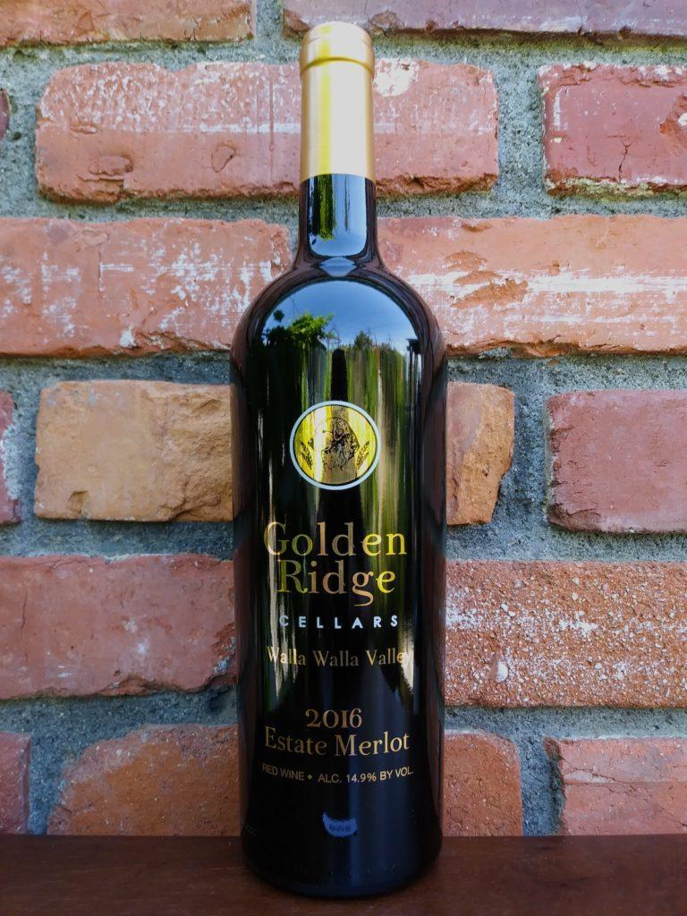 golden ridge cellars estate merlot 2016 bottle 768x1024 - Elephant 7 soars with Yellow Bird Vineyard Grenache at Walla Walla Valley Wine Competition
