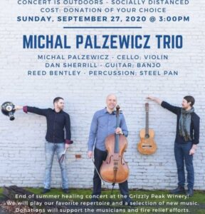 Michal Palzewicz Trio 1 288x300 - Michal Palzewicz Trio performs at Grizzly Peak Winery