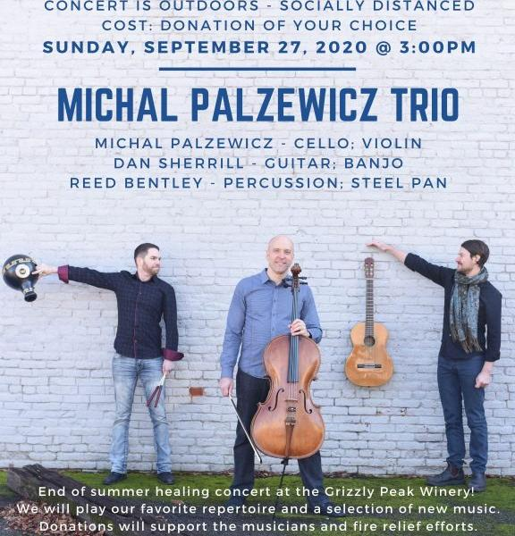 Michal Palzewicz Trio 1 - Michal Palzewicz Trio performs at Grizzly Peak Winery