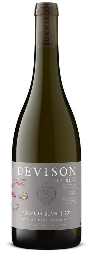 devison vintners evergreen vineyard sauvignon blanc 2019 bottle - Devison Vintners 2019 Evergreen Vineyard Sauvignon Blanc, Columbia Valley, $25