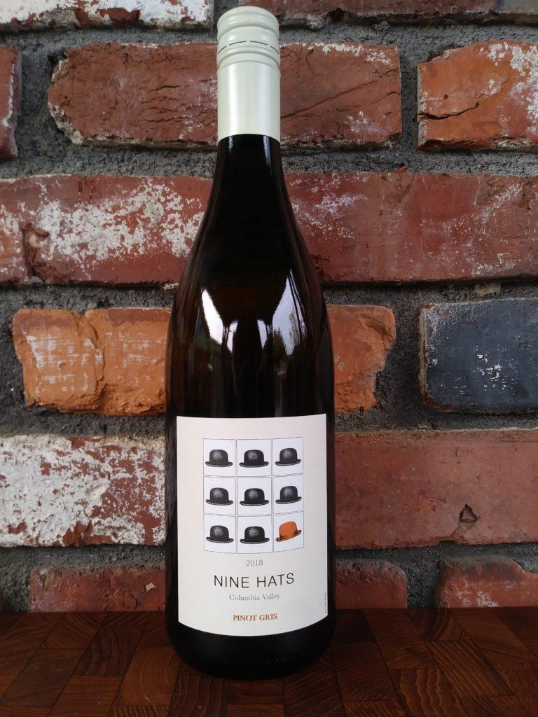 nine hats wines 2018 pinot gris bottle 768x1024 - Nine Hats Winery 2018 Pinot Gris, Columbia Valley, $14