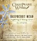 camas prairie winery raspberry mead nv label 120x134 - Camas Prairie Winery 2019 Raspberry Mead, Idaho, $14