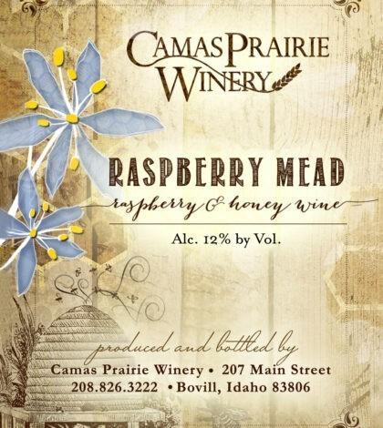 camas prairie winery raspberry mead nv label 420x470 - Camas Prairie Winery 2019 Raspberry Mead, Idaho, $14